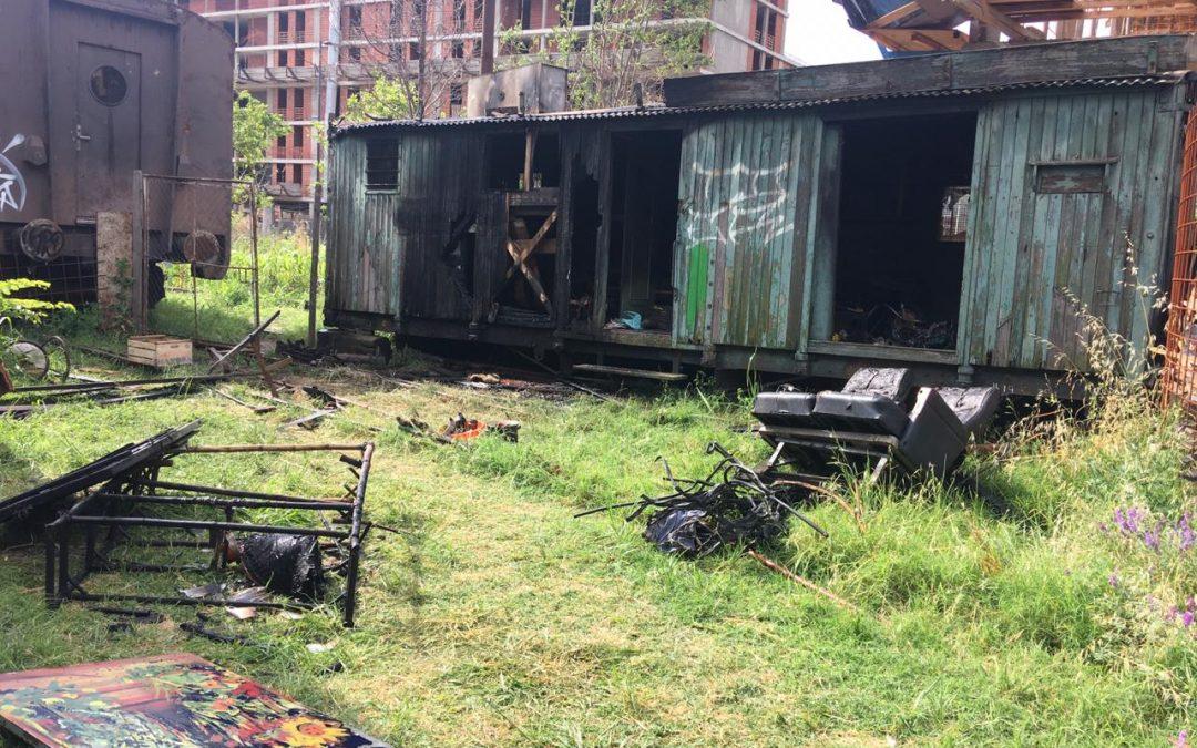 Comunicado ante incendio de vagón en El Galpón